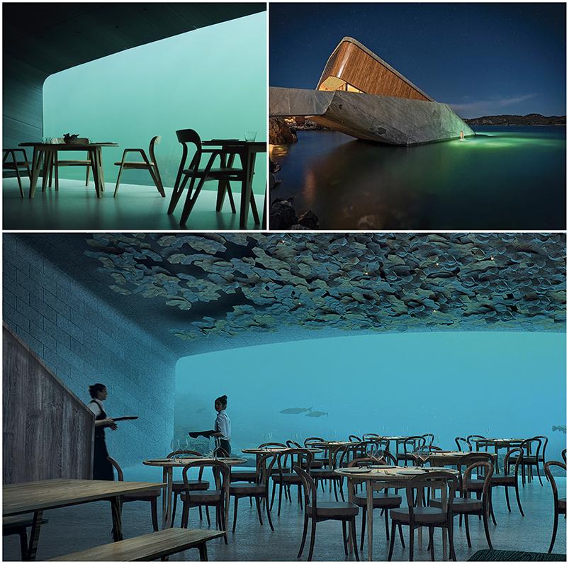 Le restaurant immersif sous la mer, se situant en Norvège
